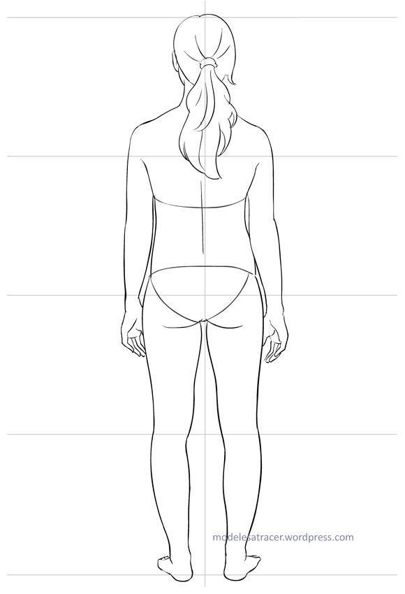 modele dos mila dessin pinterest habille dessin corps et silhouettes. Black Bedroom Furniture Sets. Home Design Ideas
