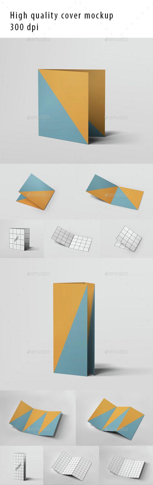 Tri Fold And Half Fold Brochure Mockup  Mockup Tri Fold And