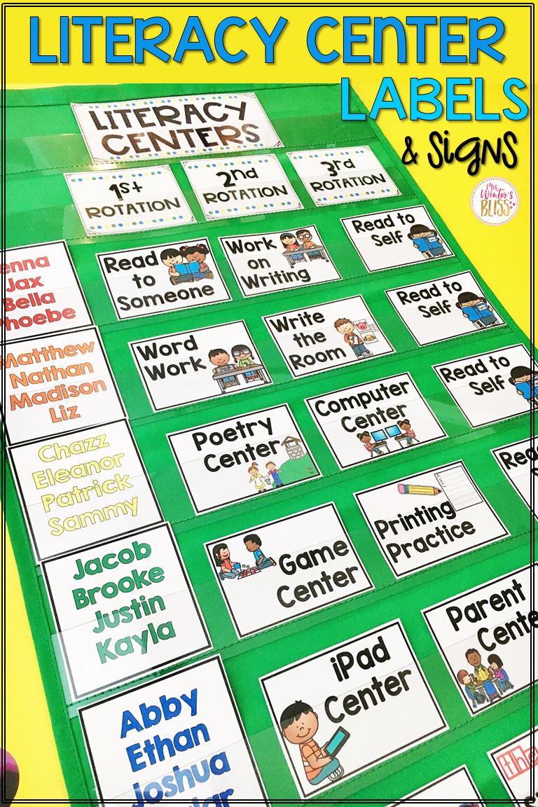 literacy center rotation board u2022 center signs classroom management rh pinterest com