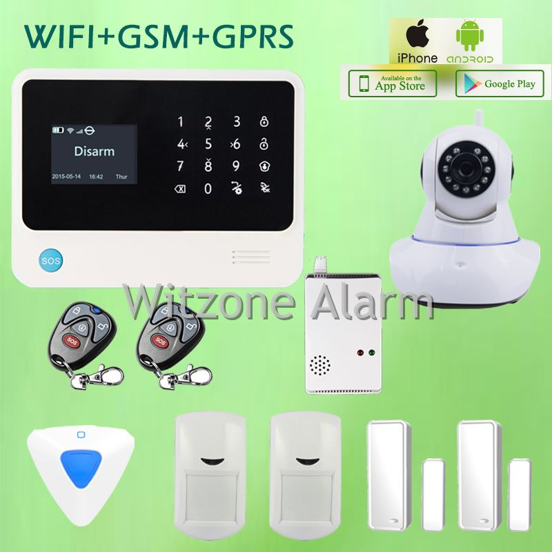 Wireless home security systems with iphone app wire center smart home alarm security system ios android app controlled gs g90b rh pinterest com wireless home solutioingenieria Image collections
