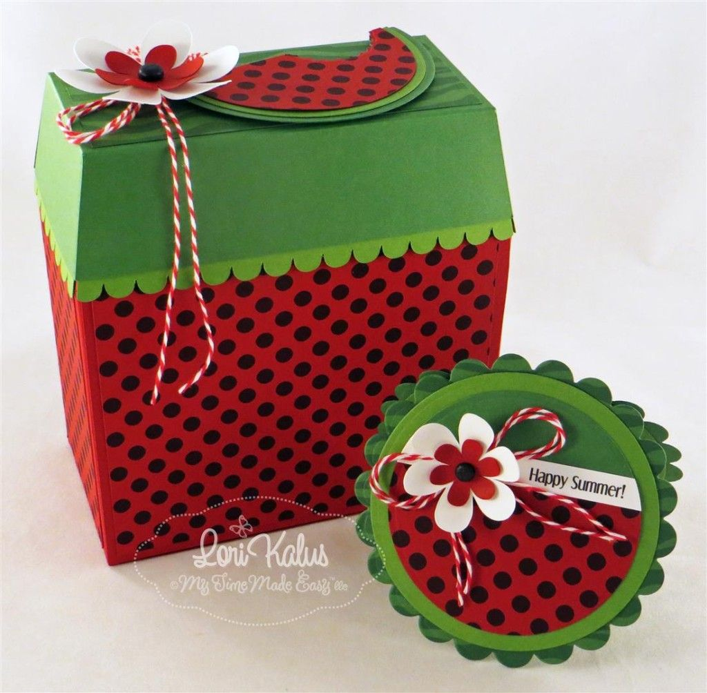 Sandias Decoradas Watermelon Box With Matching Notecards Sandía