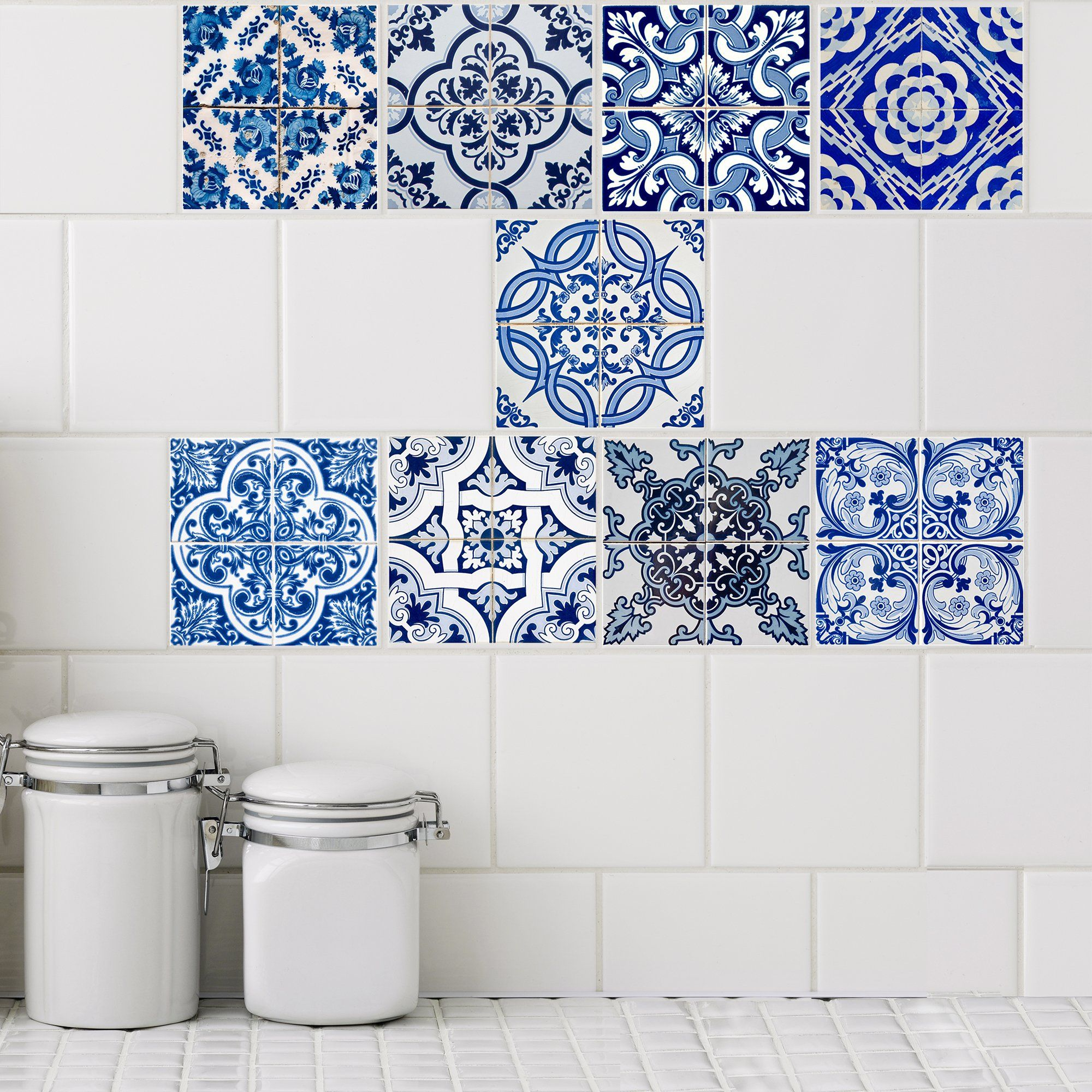Azul Collection Tile Decals | Tile decals, Apt ideas and Upstairs ...