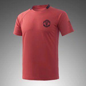 Manchester United 2017-18 Season Salmon Training Shirt  K588 ... f83c065fecb1
