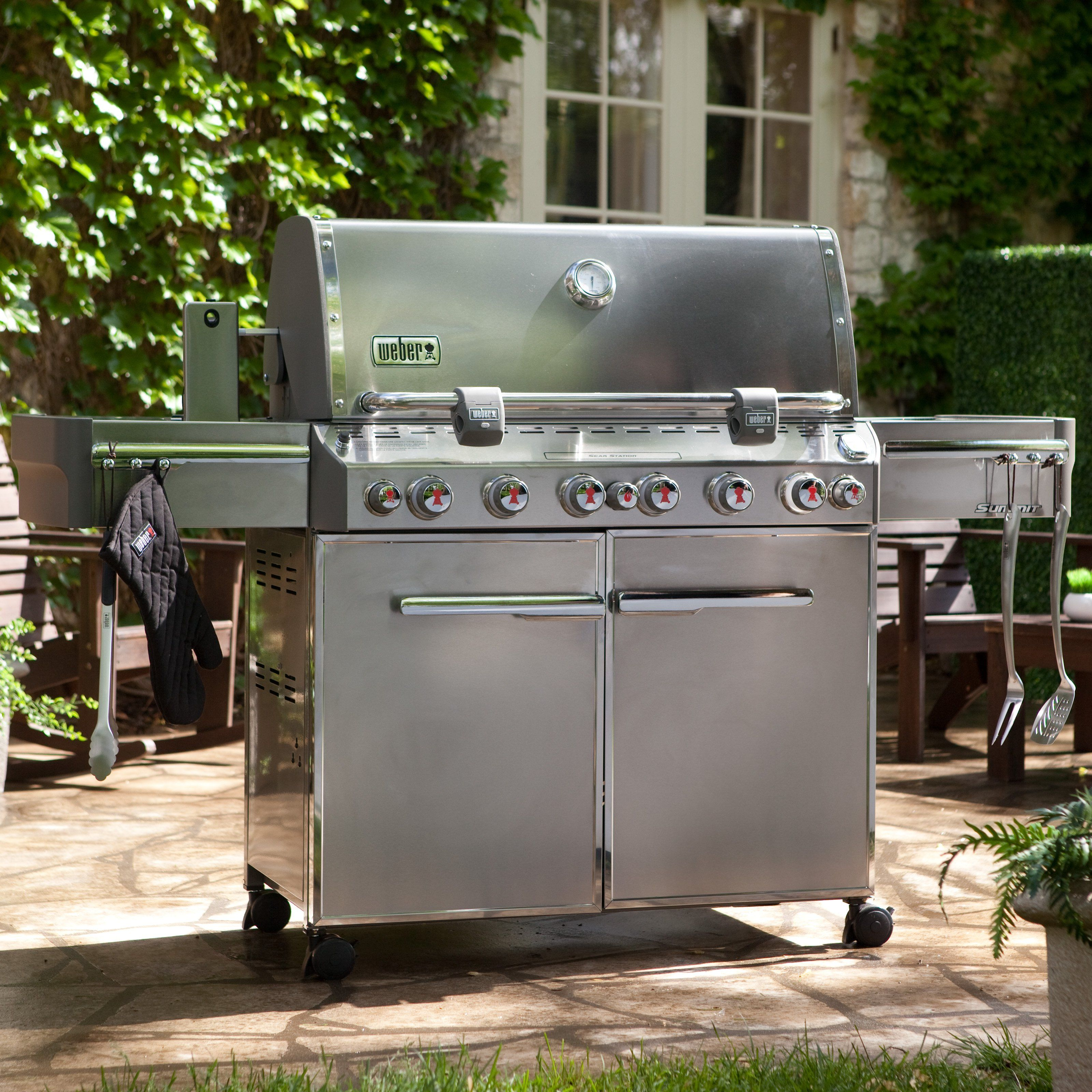 gas grill weber summit s 670 stainless steel gas grill 7370001 products pinterest products. Black Bedroom Furniture Sets. Home Design Ideas