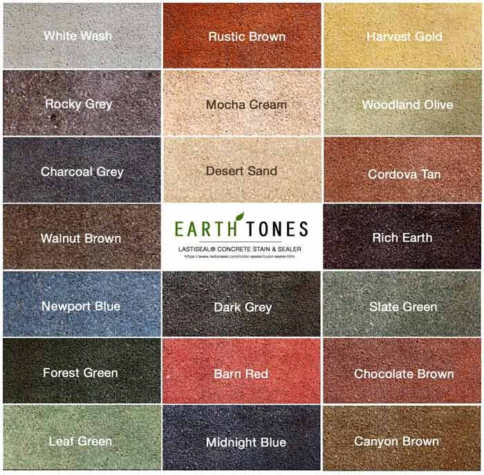 earth tones paint | Acid stains are limited to only a few ...