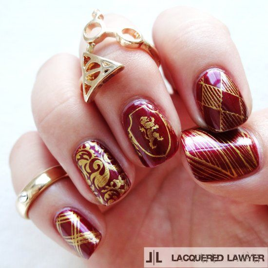 Harry Potter Inspired Nail Art Harry Potter Nails Harry Potter