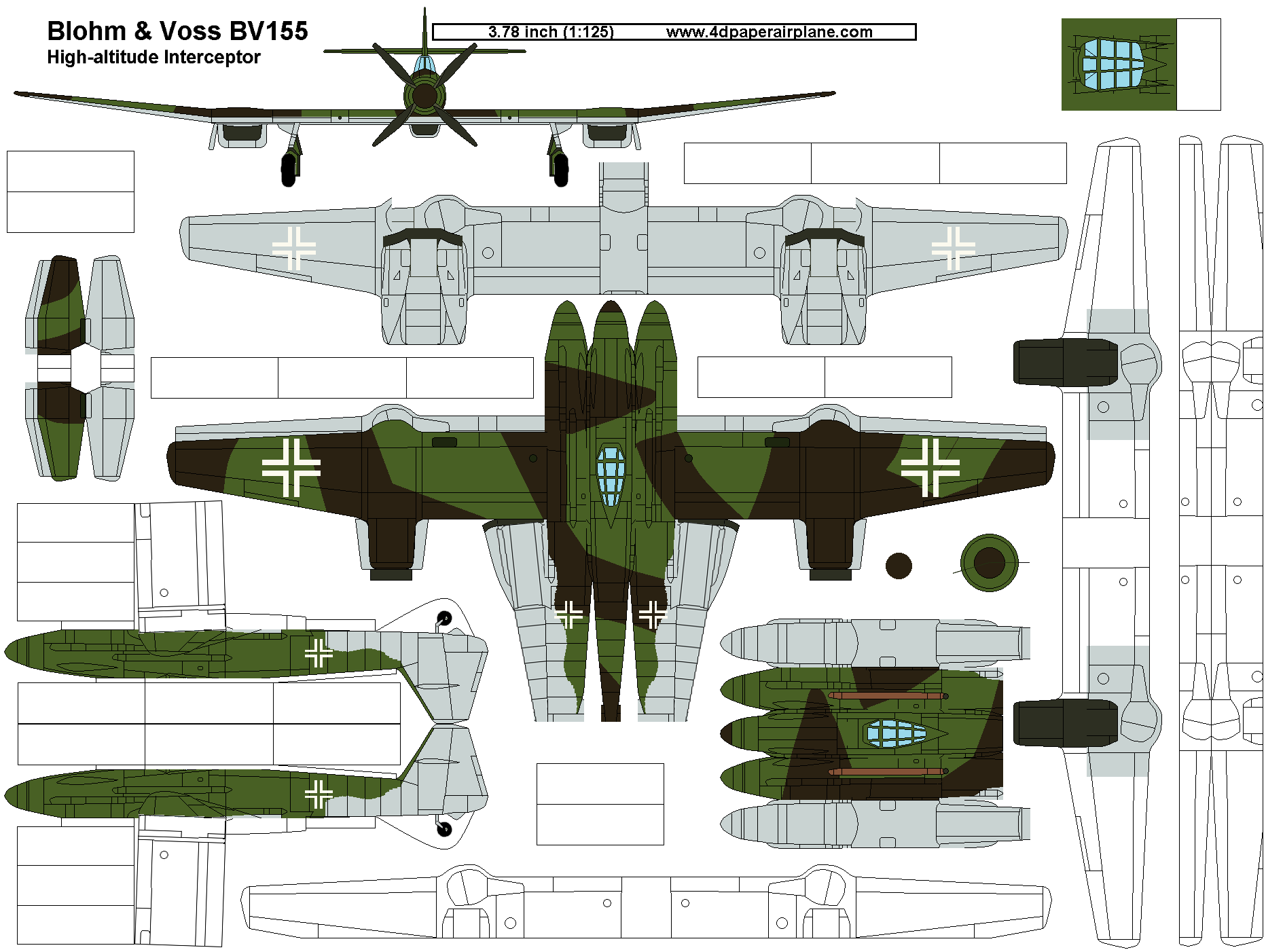 template of 4d model  blohm  u0026 voss bv155 german high