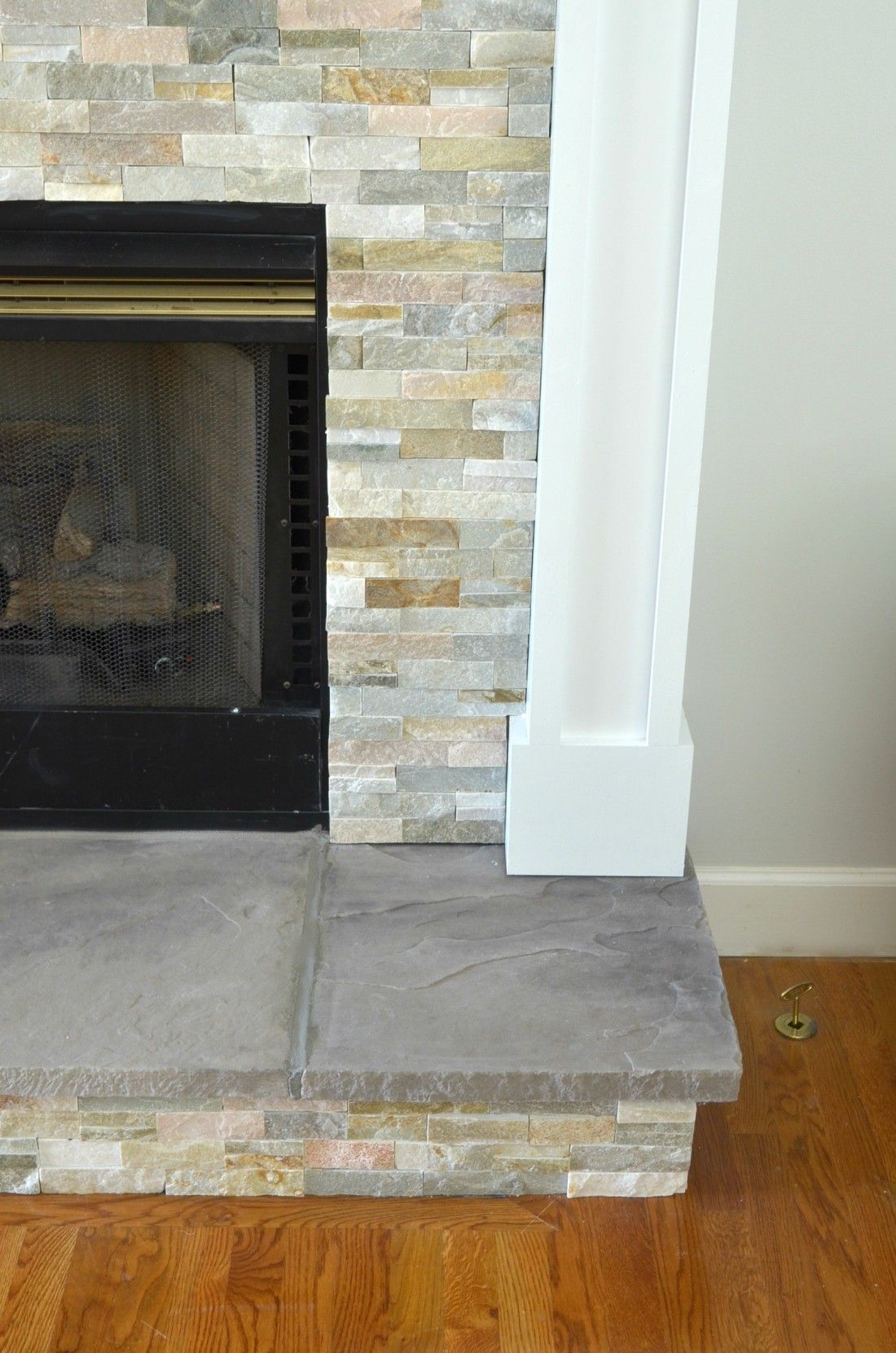 Diy Fireplace Makeover At Home With The Barkers Fireplace Hearth Tiles Diy Fireplace Makeover Fireplace Remodel
