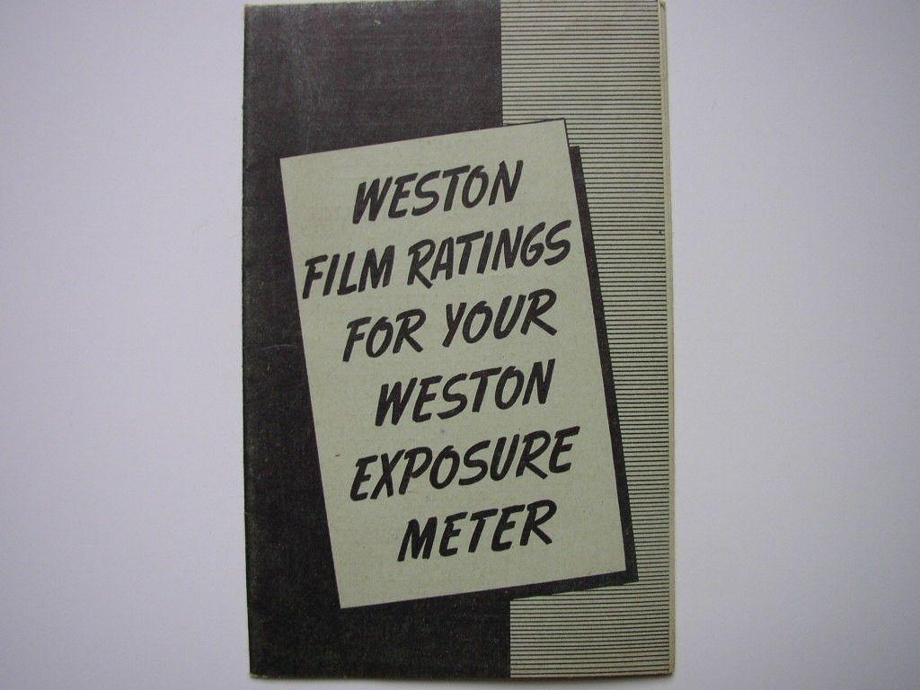 Vintage #Weston Brochure 1939 #Photography Booklet Film #Emulsion Ratings for Exposure Meter