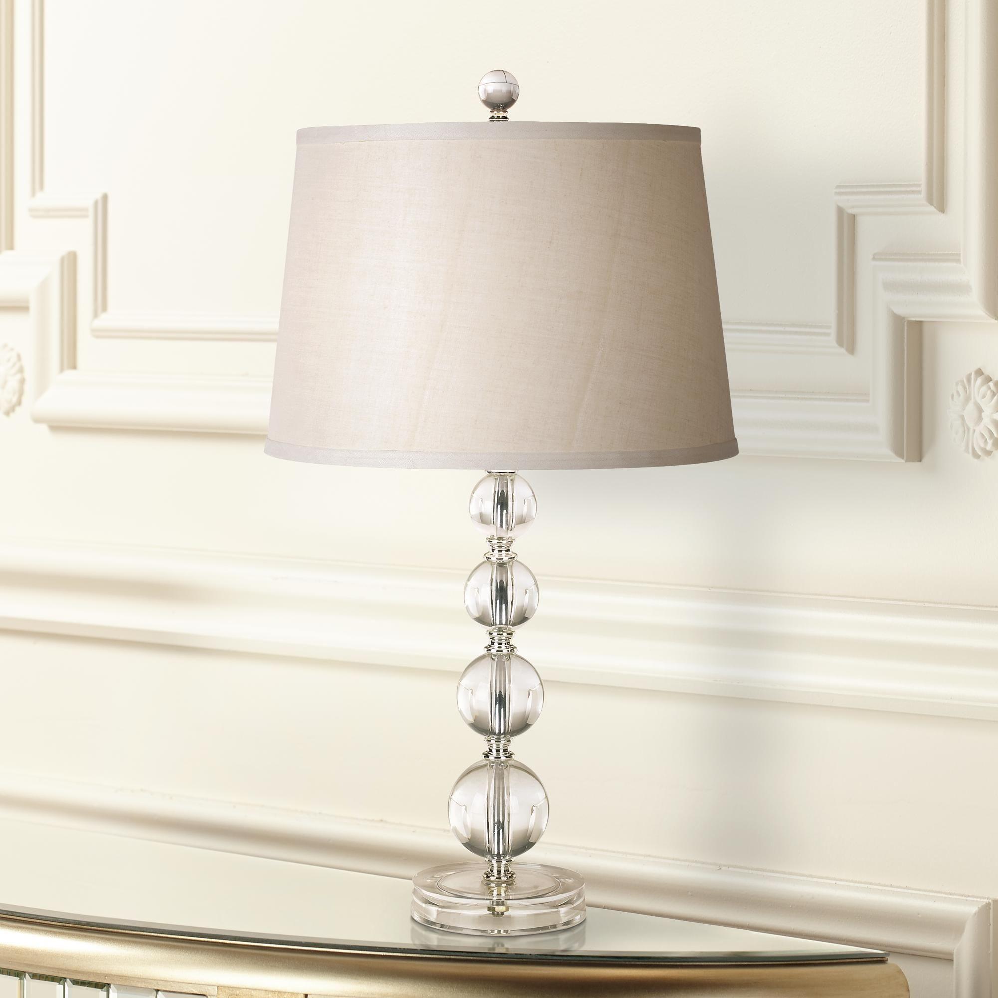 Herminie Stacked Ball Acrylic Table Lamp By 360 Lighting Dengan Gambar
