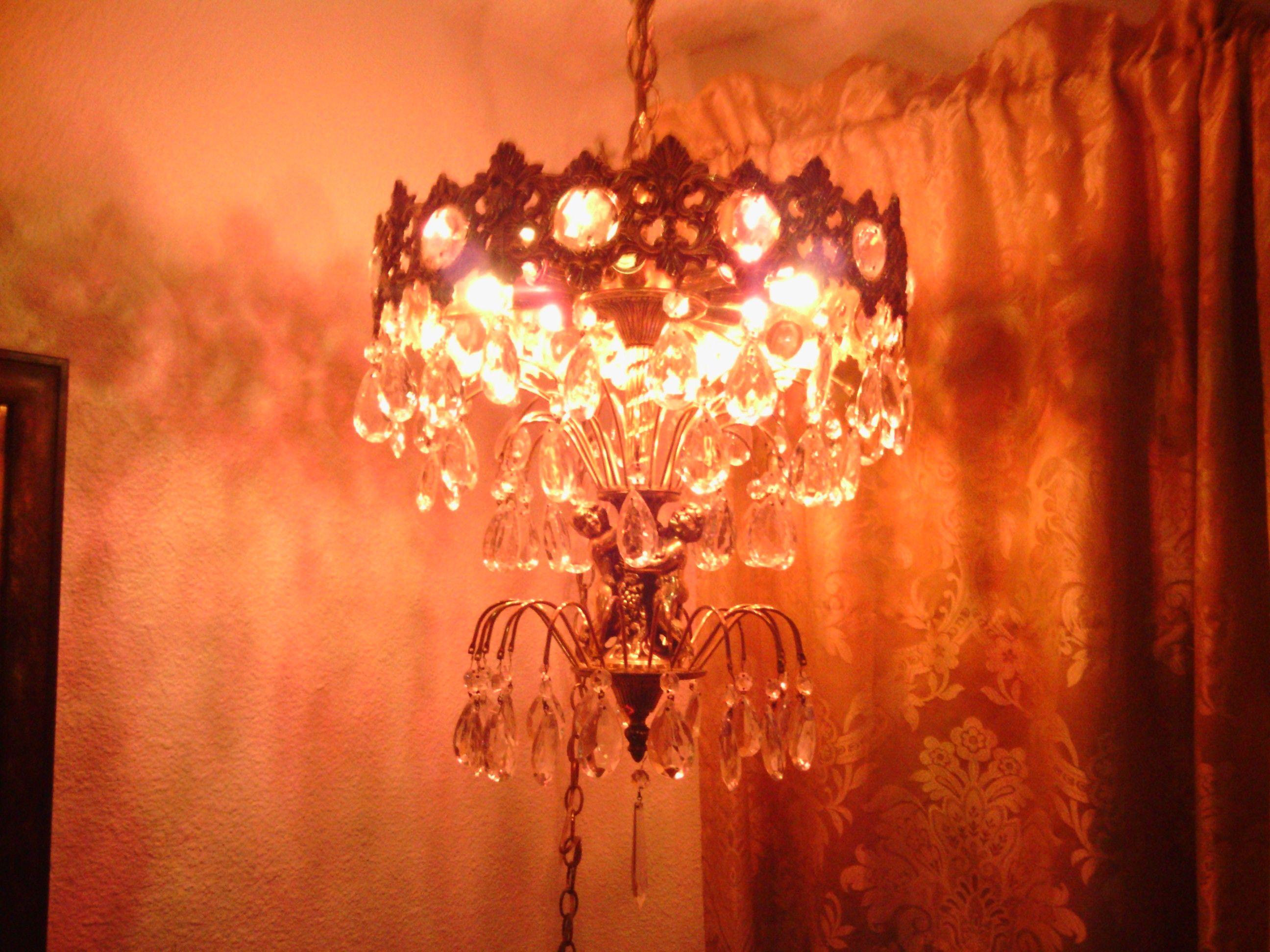 My very own 1 of 3 ll wmcloevsky chandelier i added white and my very own 1 of 3 ll wmcloevsky chandelier i added aloadofball Gallery