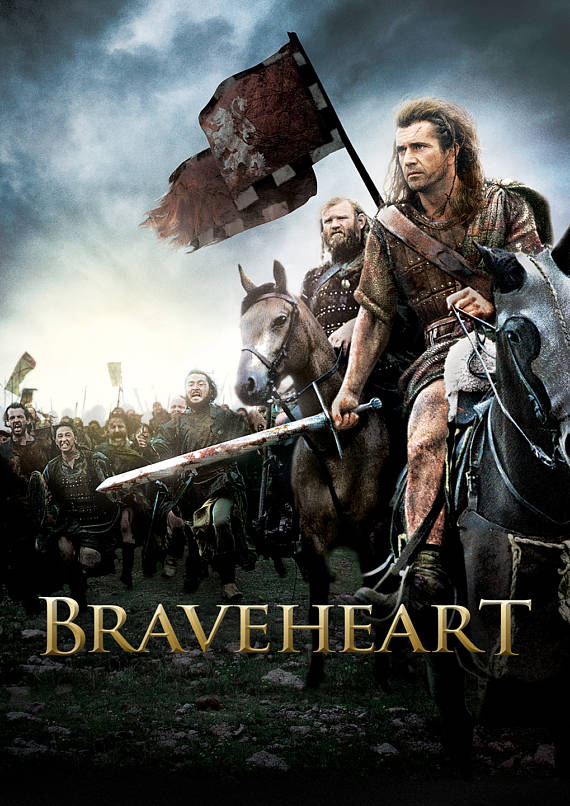 Braveheart Movie Poster Canvas Printing High Quality Available In Many Sizes Gifts Braveheart Mel Gibson Free Movies Online