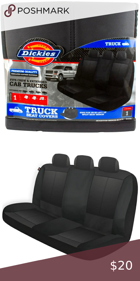 Dickie S Houston Black Truck Bench Seat Cover Black Truck Bench Seat Covers Seat Cover