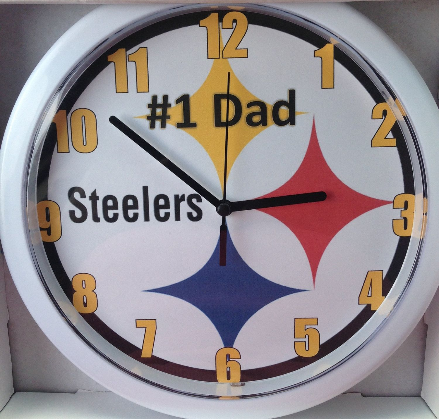 Pittsburgh steelerspersonalized pittsburgh steelers wall clock by pittsburgh steelerspersonalized pittsburgh steelers wall clock by dajshop on etsy 1800 amipublicfo Image collections