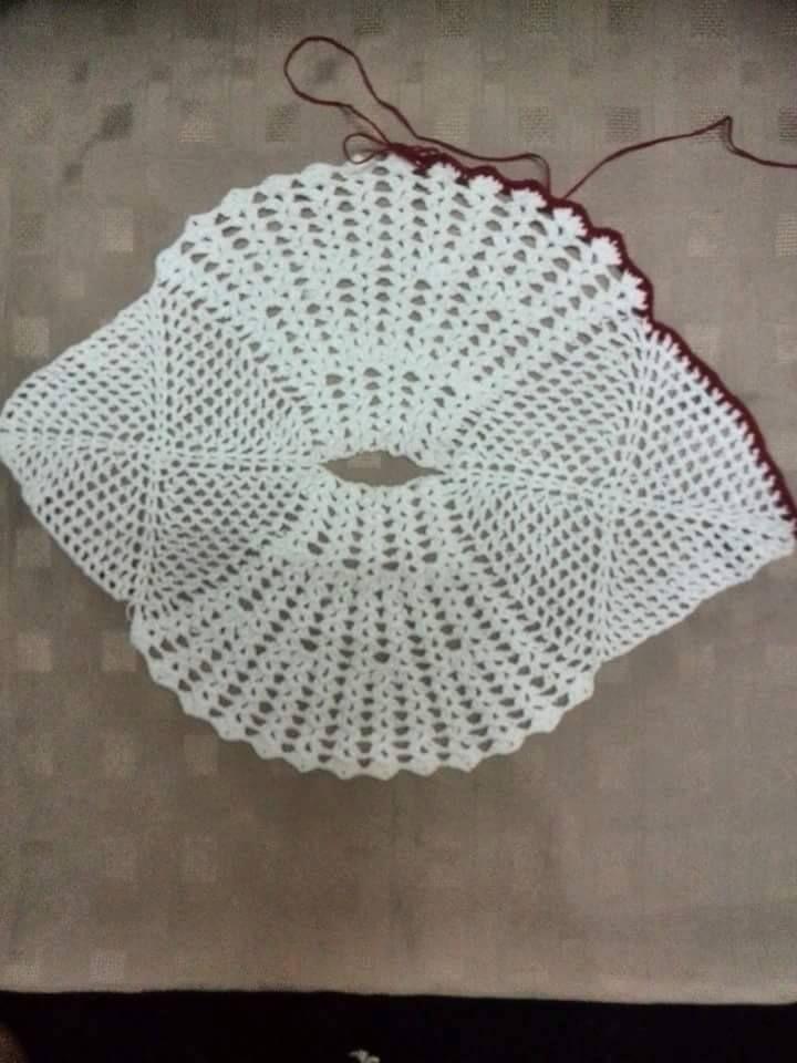 Vistoso Patrón De Crochet Doily Ovalada Embellecimiento - Manta de ...