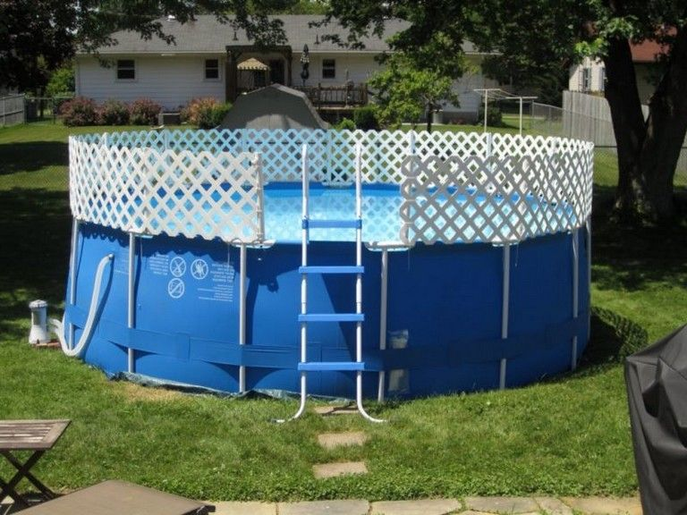 20 Exciting Stock Tank Pools To Be An Oasis On Your Backyard Pool Pooldesigns Poolideas Above Ground Pool Fence Small Above Ground Pool Diy Pool Fence