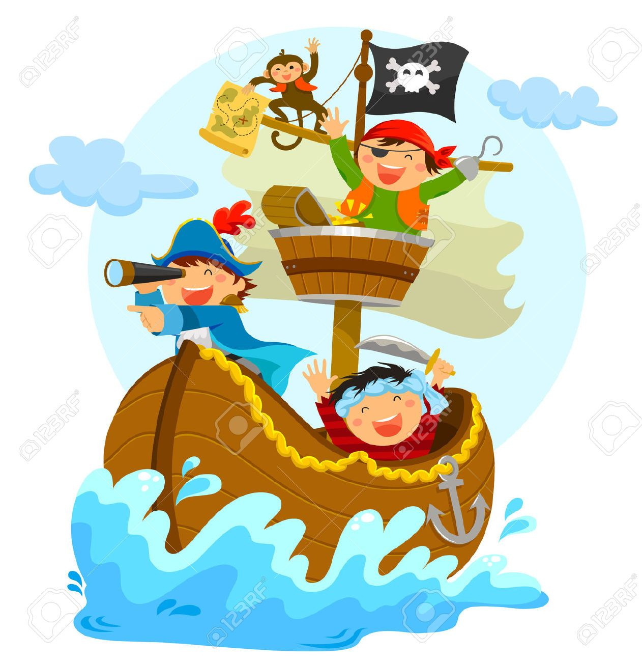 Barco pirata dibujo animado recherche google - Imagenes de barcos infantiles ...