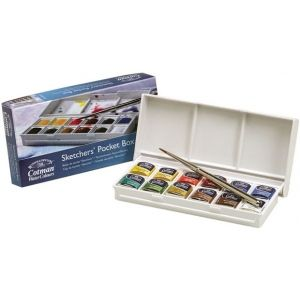 Winsor Newton Watercolor Paint Sketchers Pocket Box Set
