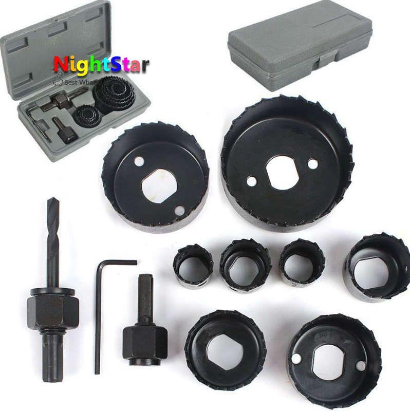 11pcs Hole Saw Cutter Cutter Set KIT Round//Circular Drill 19-64MM Metal Wood