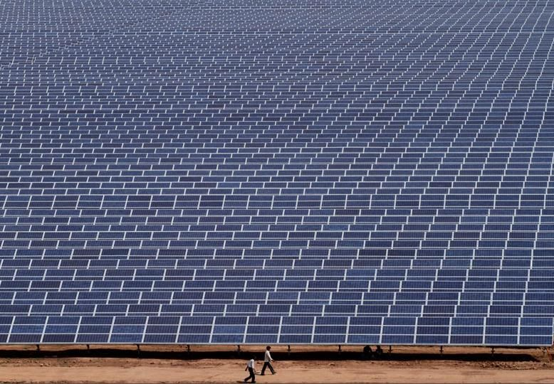 India Is Becoming A Mammoth Like Producer Of Power Much Like This Solar Array Solar Projects Solar Panels Solar Energy
