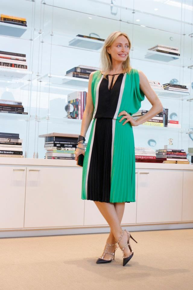 """""""Geometry 101: a new take on color-blocking. Just in time for the weekend.""""  -Lubov Azria  #BCBG #LOD #LubovAzria"""