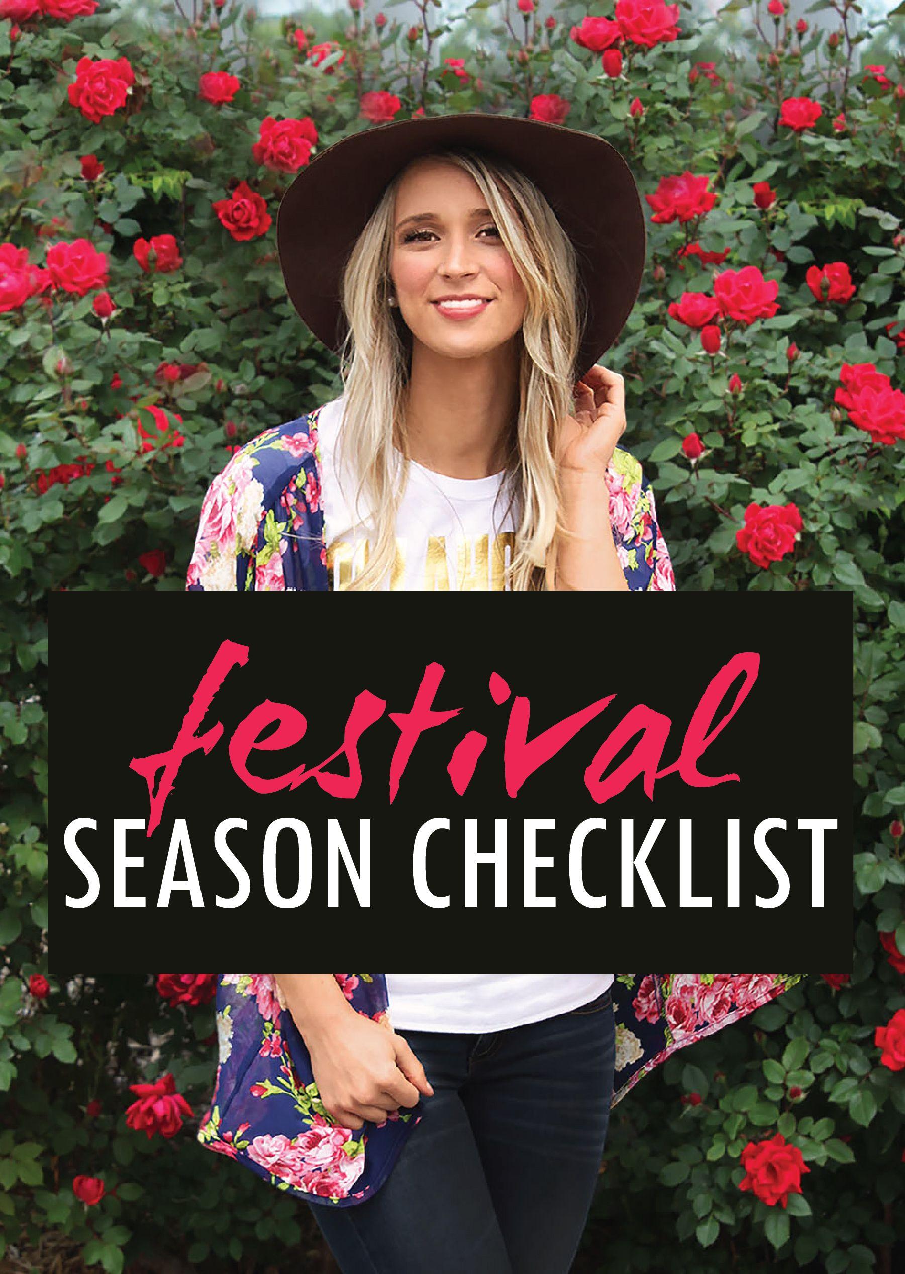 Ultimate Festival Season Checklist