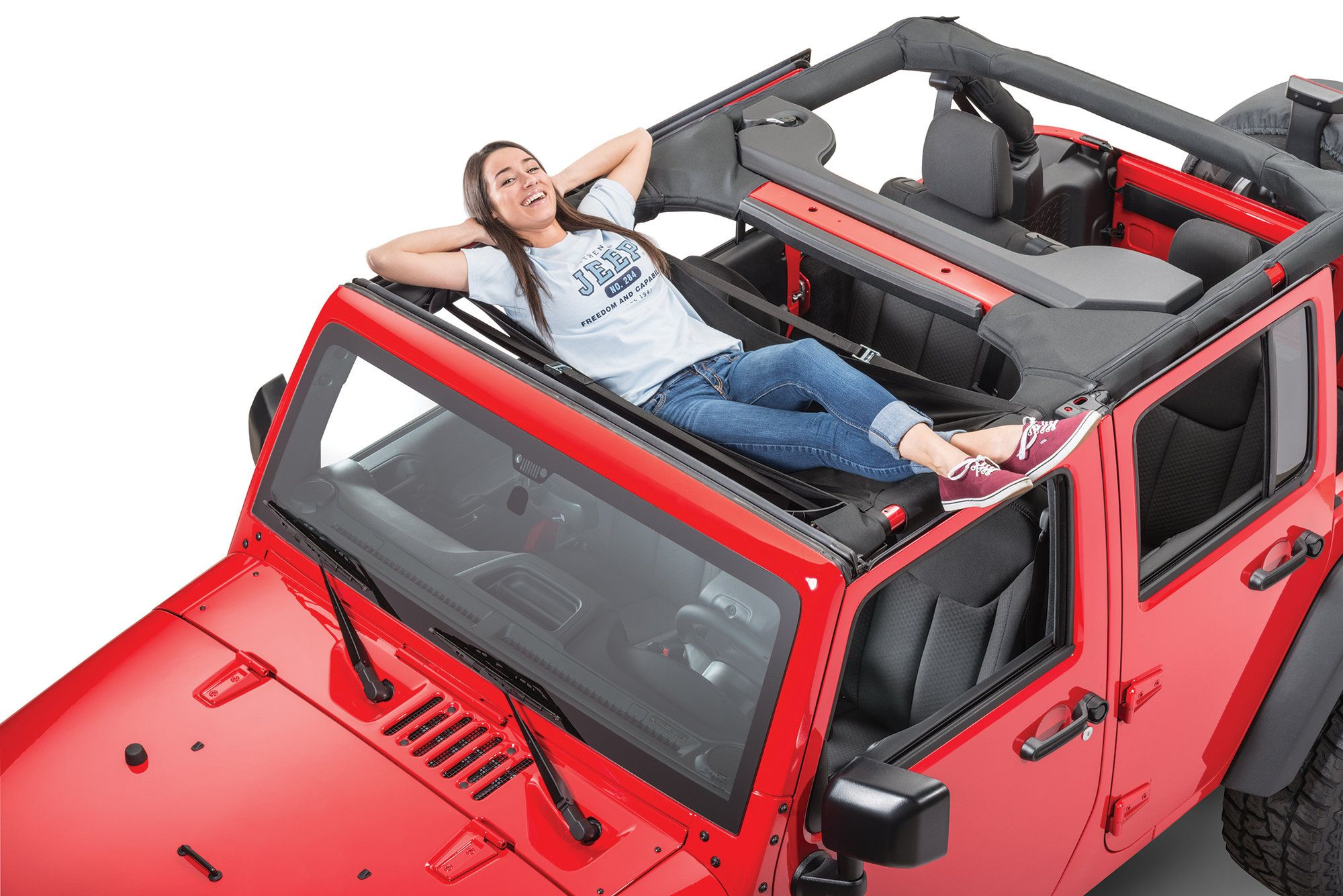 Jammock 22393 Black 2 0 Jeep Hammock For 87 20 Jeep Wrangler Jl