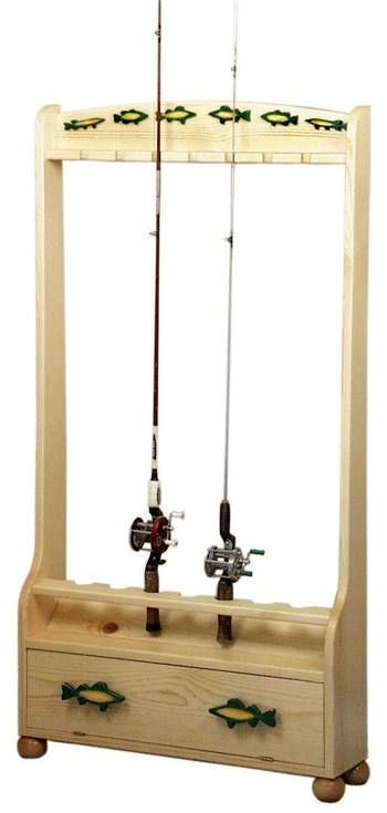 Fishing Rod Holder Rack Woodworking Plan. … | Woodworking ...