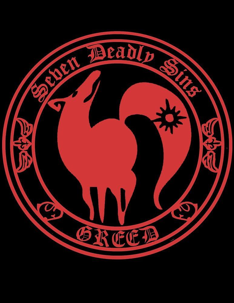 Ban Greed Nanatsu No Taizai 7 Deadly Sins Logo Anime Cosplay Japan T Shirt By Zombiehorde Seven Deadly Sins Tattoo 7 Deadly Sins Seven Deadly Sins Symbols