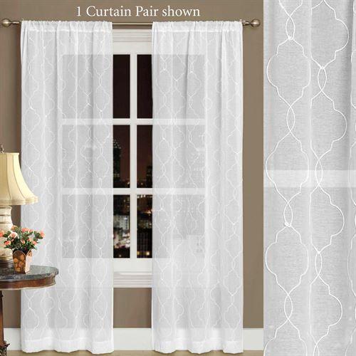 Audrey Semi Sheer Curtain Pair White Sheer Curtains Curtains