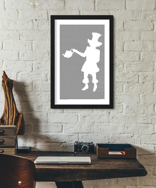 Alice in Wonderland Book Poster (Mad Hatter Design)