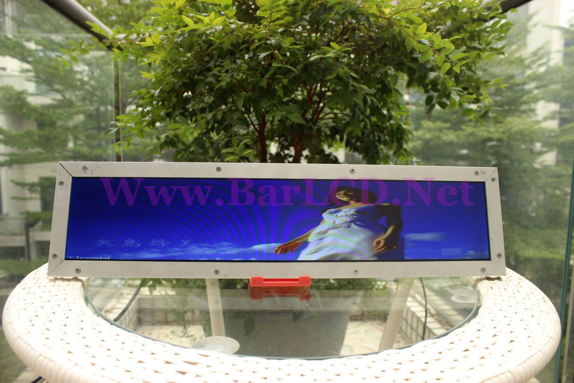 stretched stretch lcd display | Outdoor decor, Display