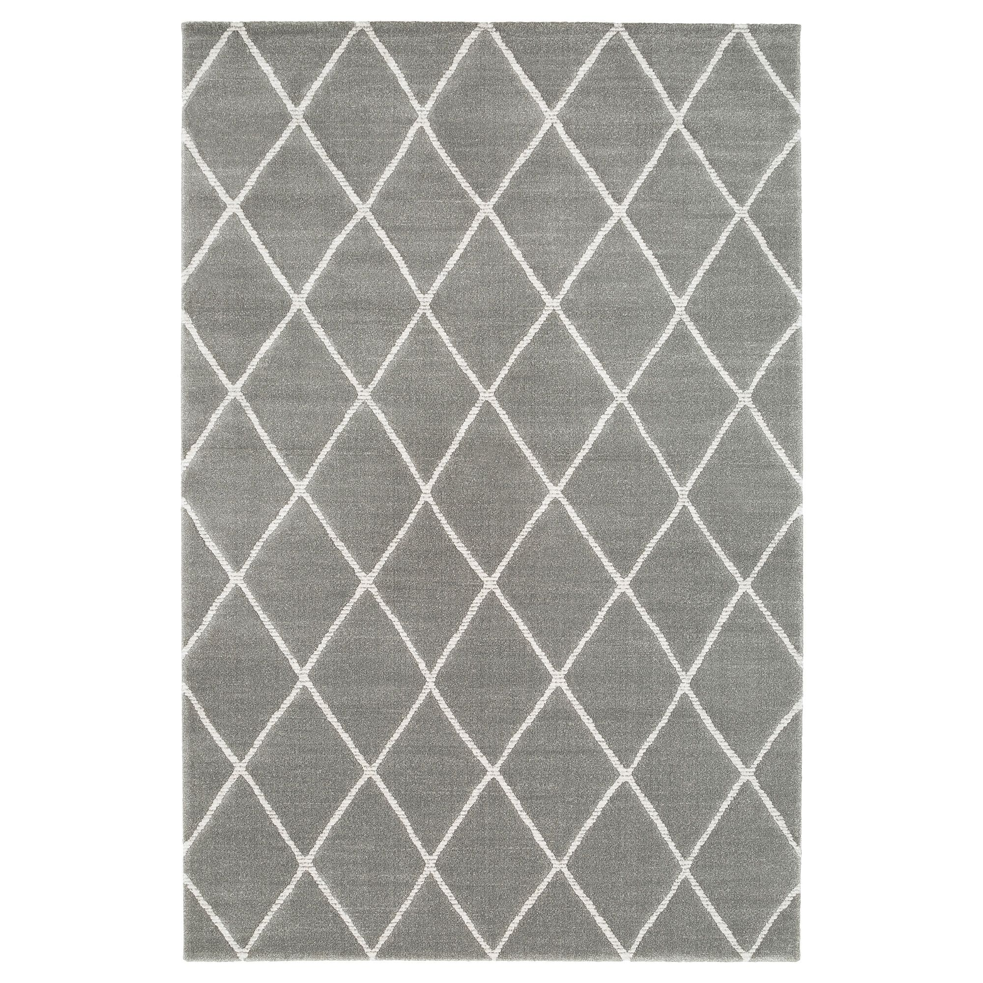 Ikea Vantore Rug Low Pile Gray White Diamond Pattern