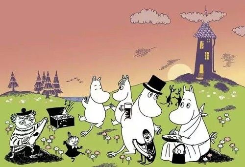We Heart It의 이미지 #evening #moomin #moominvalley #littlemy #snorkmaiden #too-ticky #moominfamily