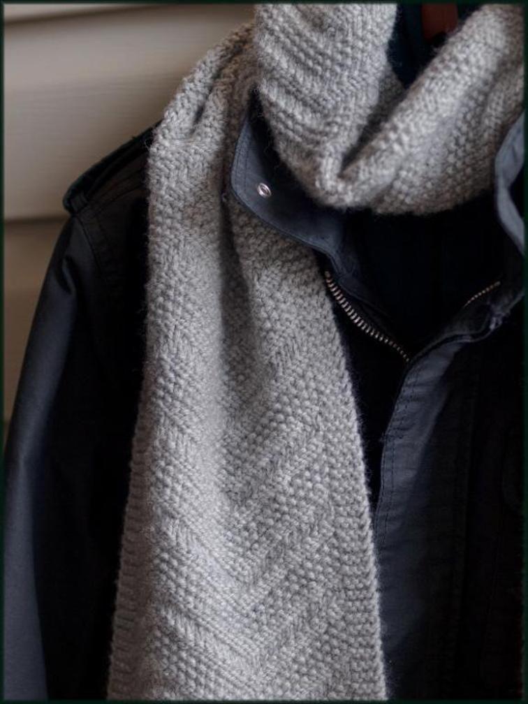 Beckenham Scarf - Mens scarf - Reversible design | Scarves, Knitting ...