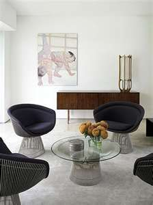 Mid-century modern - love the Platner table and chairs