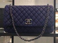 5d4e4e8e40ff Chanel Blue New Bubble Flap Large Bag #chanel #handbags | Chanel ...