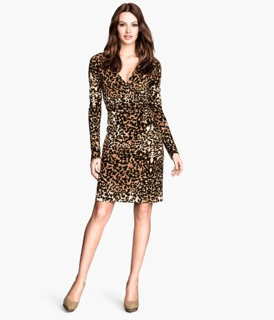 9a031a0a5c10 Leopard Print Wrapover Dress | H&M US | Clothing, Accessories ...