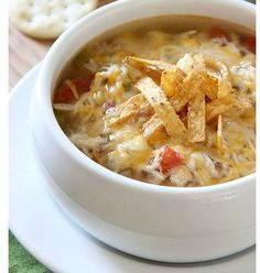 Tonight's Dinner: Crockpot Chicken Tortilla Soup