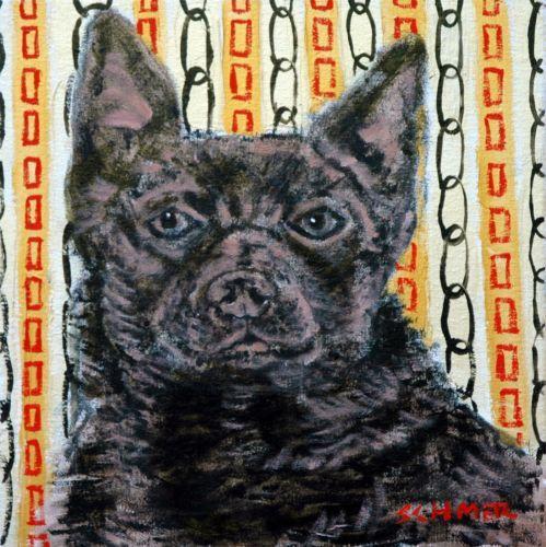 #Australian #kelpie dog art tile coaster gift jschmetz #modern folk art ,  View more on the LINK: http://www.zeppy.io/product/gb/2/141245107910/
