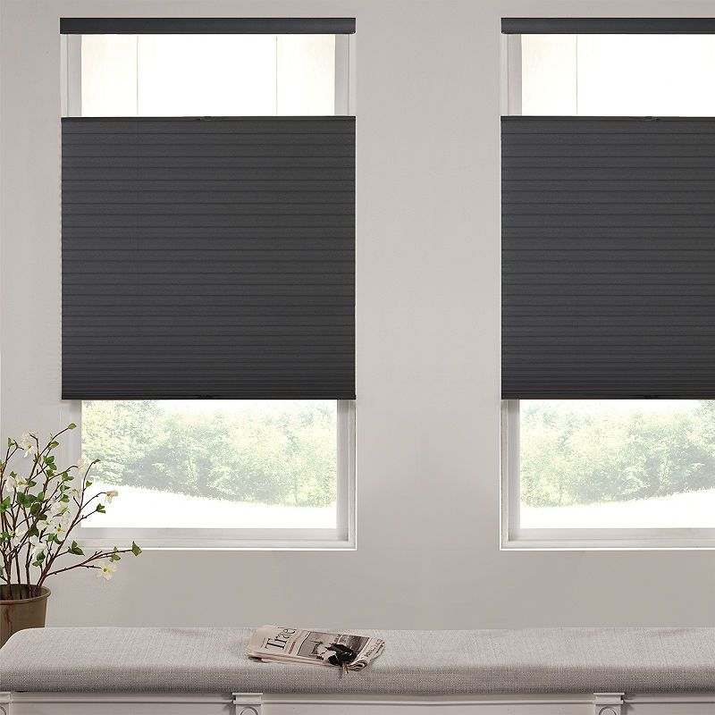 Liz Claiborne Single Cell Blackout Custom Cordless Top Down Bottom Up Cellular Shade Cellular Shades Shades Blinds Shades