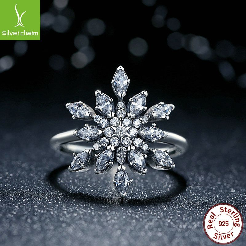 2016 New Brand Fashion 925 Sterling Silver Crystalized Snowflake