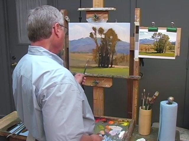 This two-disc DVD set demonstrates Bob Rohm's Painterly Approach to oil painting in the studio and on location. You will discover how to define an object with planes of color and value rather than with line. Bob focuses on the abstract pattern rather than on actual objects, on relationships between shapes rather than on detail, and on provoking an emotional response rather than achieving absolute realism.