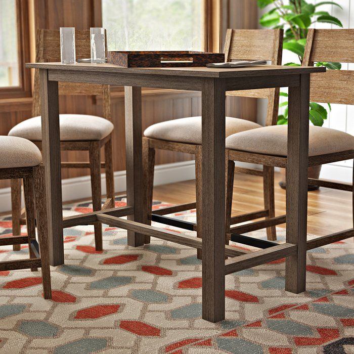 Allister Solid Wood Dining Table Reviews Allmodern Dining Table In Kitchen Solid Wood Dining Table Bar Table