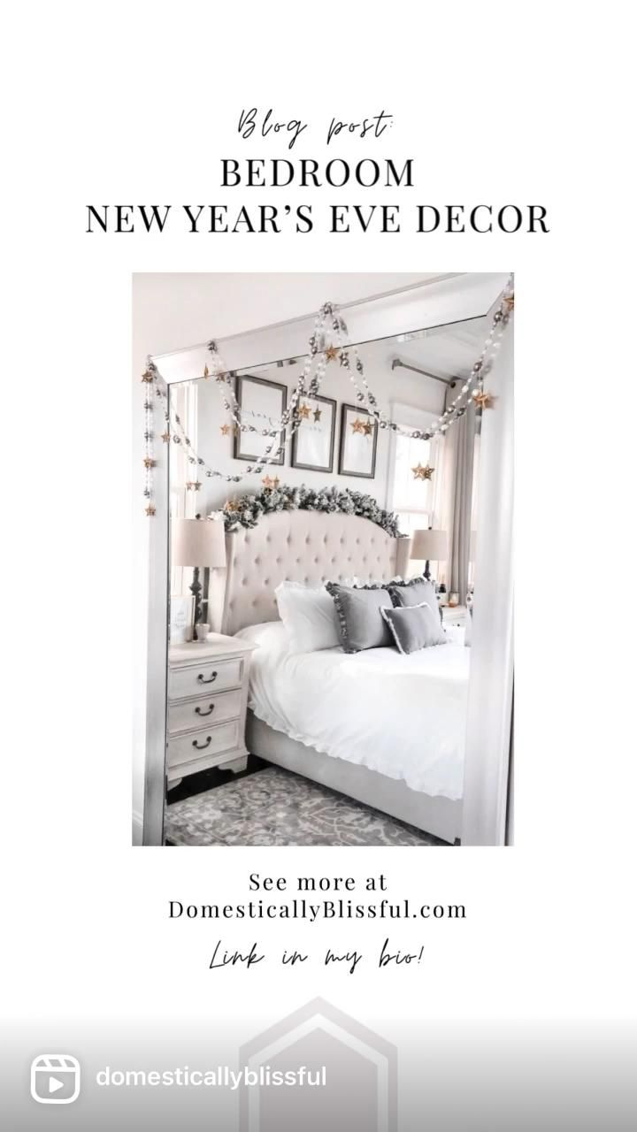 Bedroom New Year's Eve Decor - Domestically Blissf