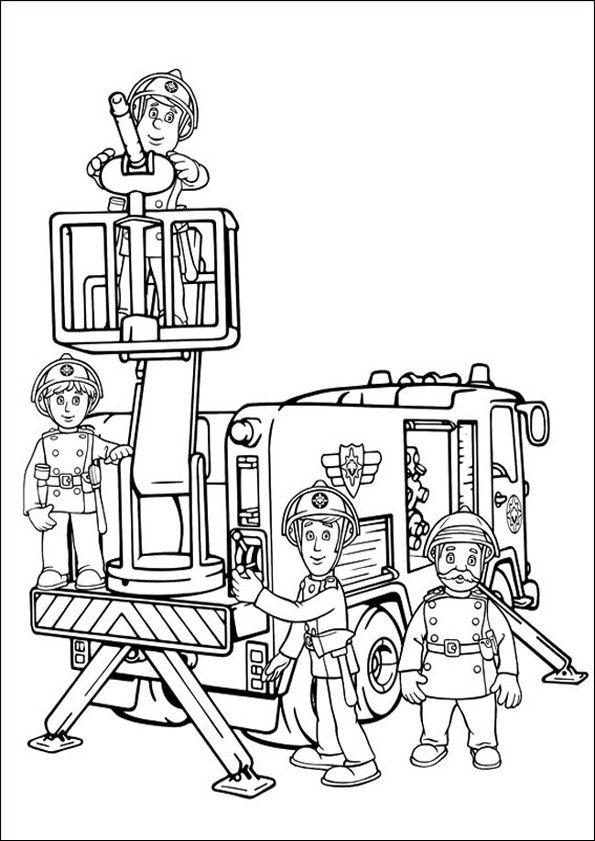 Feuerwehrmann Sam Zum Drucken 26 Deti Maľovanky Pinterest
