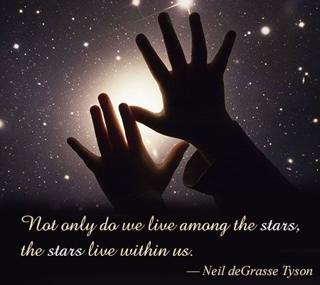 """Not only do we live among the stars, the stars live within us."" - Neil deGrasse Tyson"