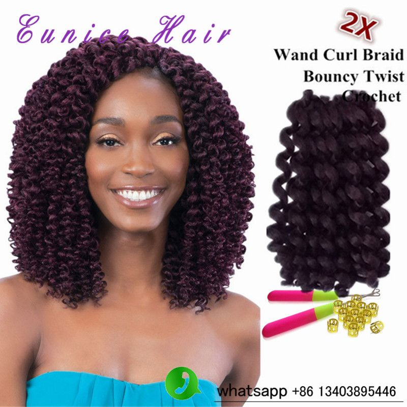 Freetress Curly Synthetic Bouncy Twist 10 Inch Wand Curl Crochet