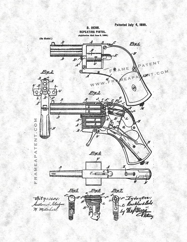 Repeating Pistol Patent Print