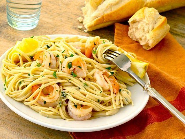 Shrimp Scampi Lemon Garlic Linguine I D Probably Use Wheat Angel